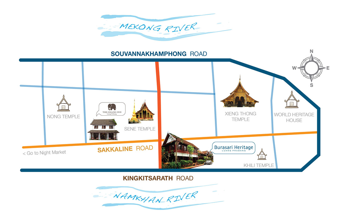 map to burasari heritage hotel