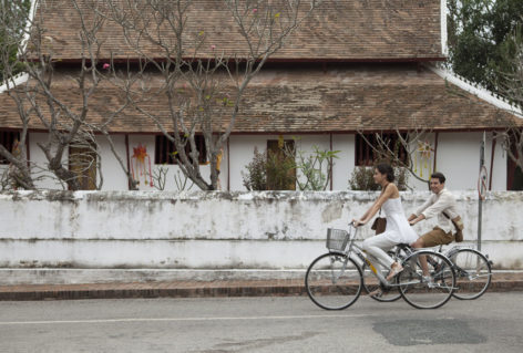 cycling around luang prabang