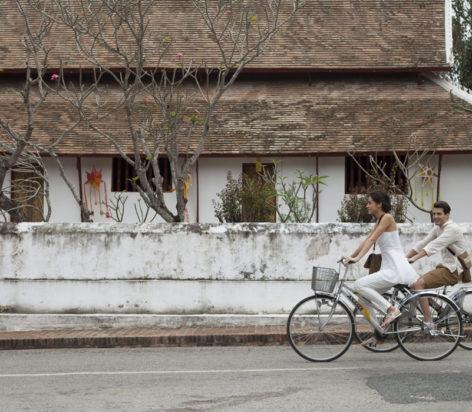 cycling around luang prabang
